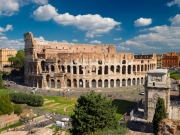 View of the Colosseum in Rome, Italy